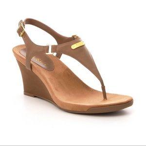 Lauren Ralph Lauren Thong Sandal Wedge Heel